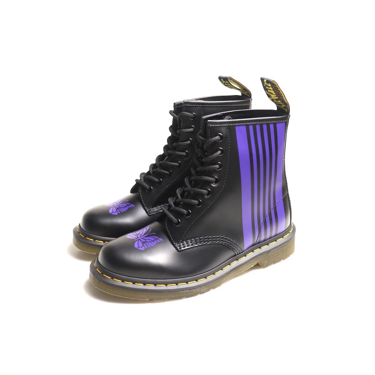 Needles × Dr.Martens / Needles Special 8Holes Stripe Boot