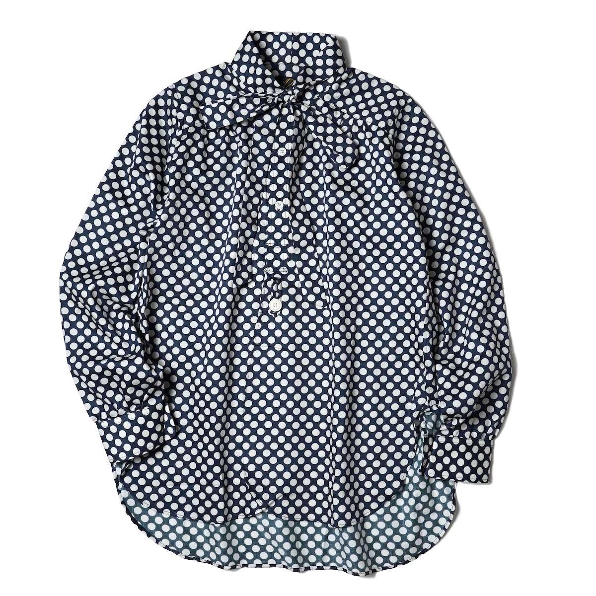 Needles / Ascot Collar EDW Shirt - Cotton Sateen / Pt (Polka Dot A)