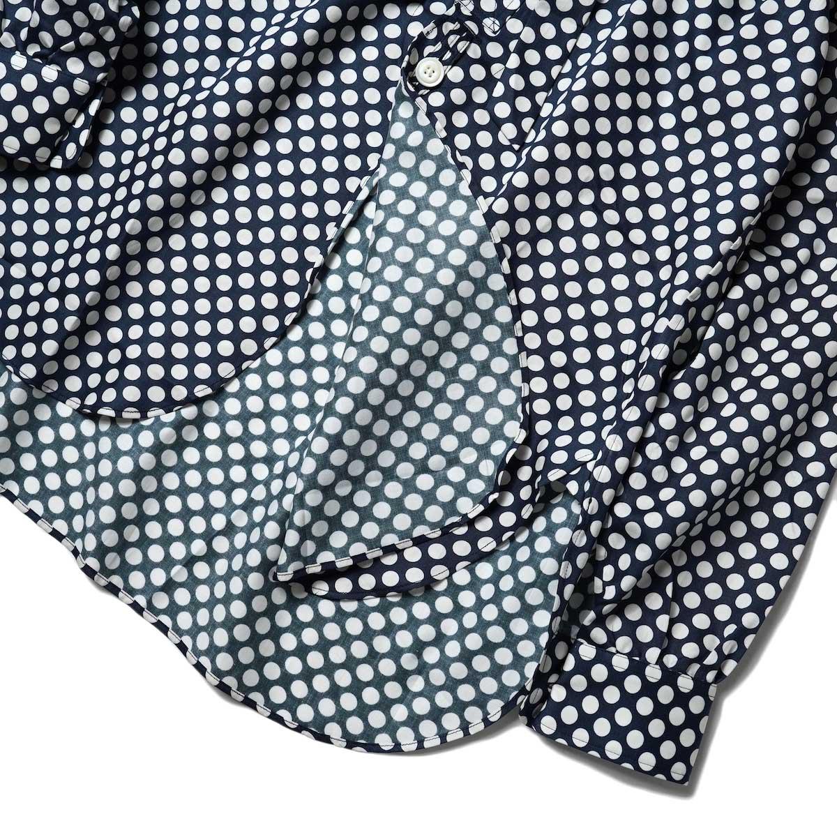Needles / Ascot Collar EDW Shirt - Cotton Sateen / Pt (Polka Dot A) フロント・裾