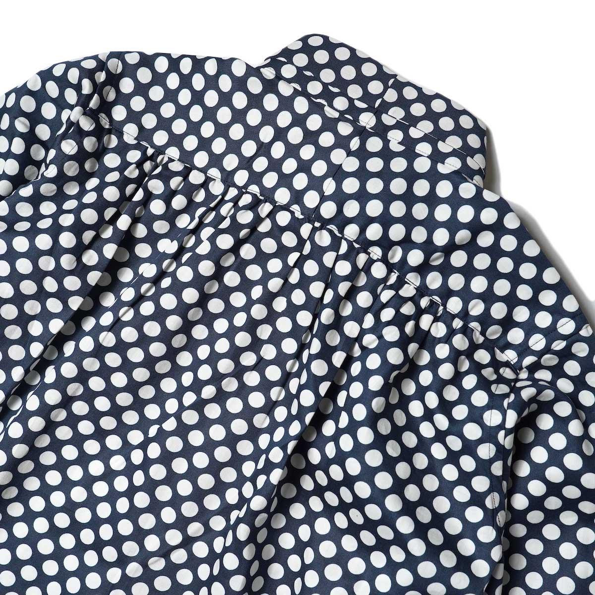 Needles / Ascot Collar EDW Shirt - Cotton Sateen / Pt (Polka Dot A) 背面ギャザー