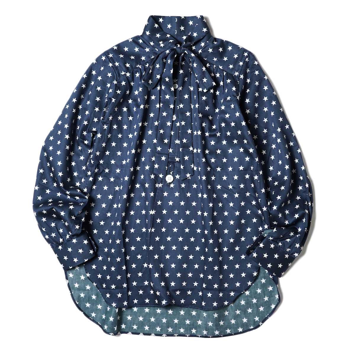 Needles / Ascot Collar EDW Shirt - Cotton Sateen / Pt (Star B) 正面
