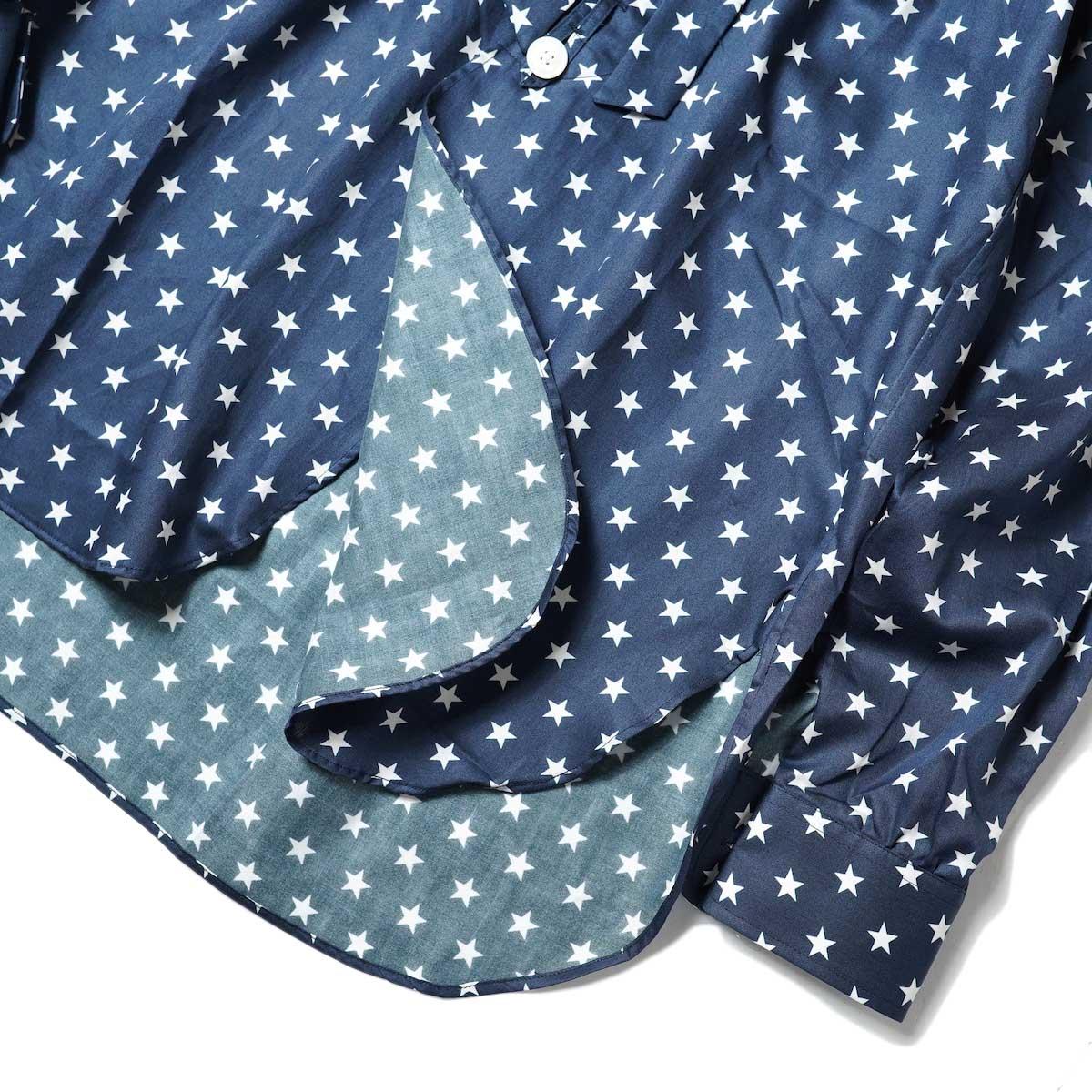 Needles / Ascot Collar EDW Shirt - Cotton Sateen / Pt (Star B) フロント・裾