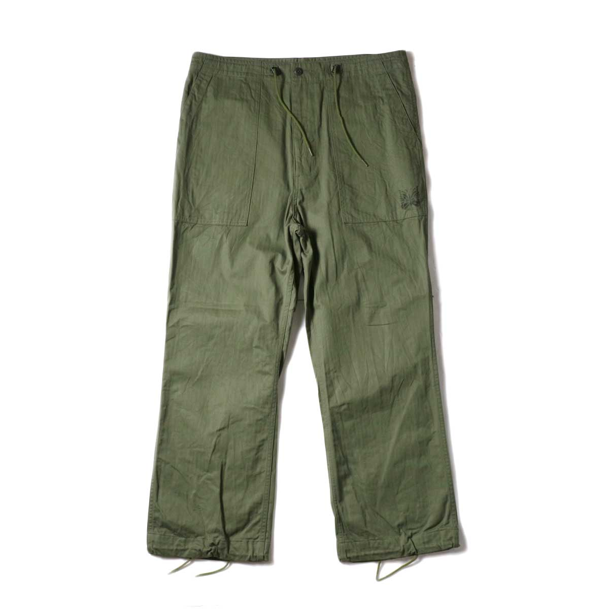 Needles / String Fatigue Pant - Cotton Herringbone (Olive)