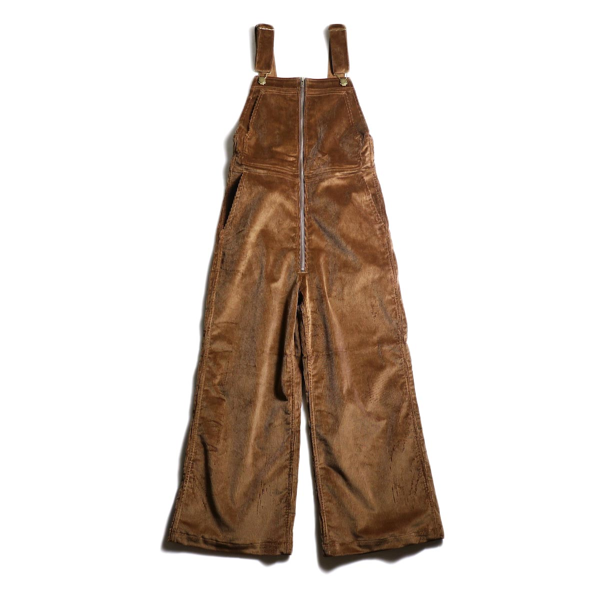 Needles【Woman】 / Flared Overall -C/PU 8W Corduroy (Brown)