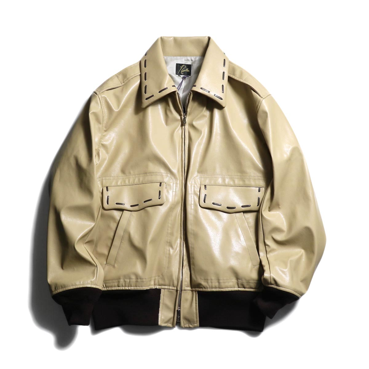 NEEDLES / G-1 Jacket -Synthetic Leather 正面