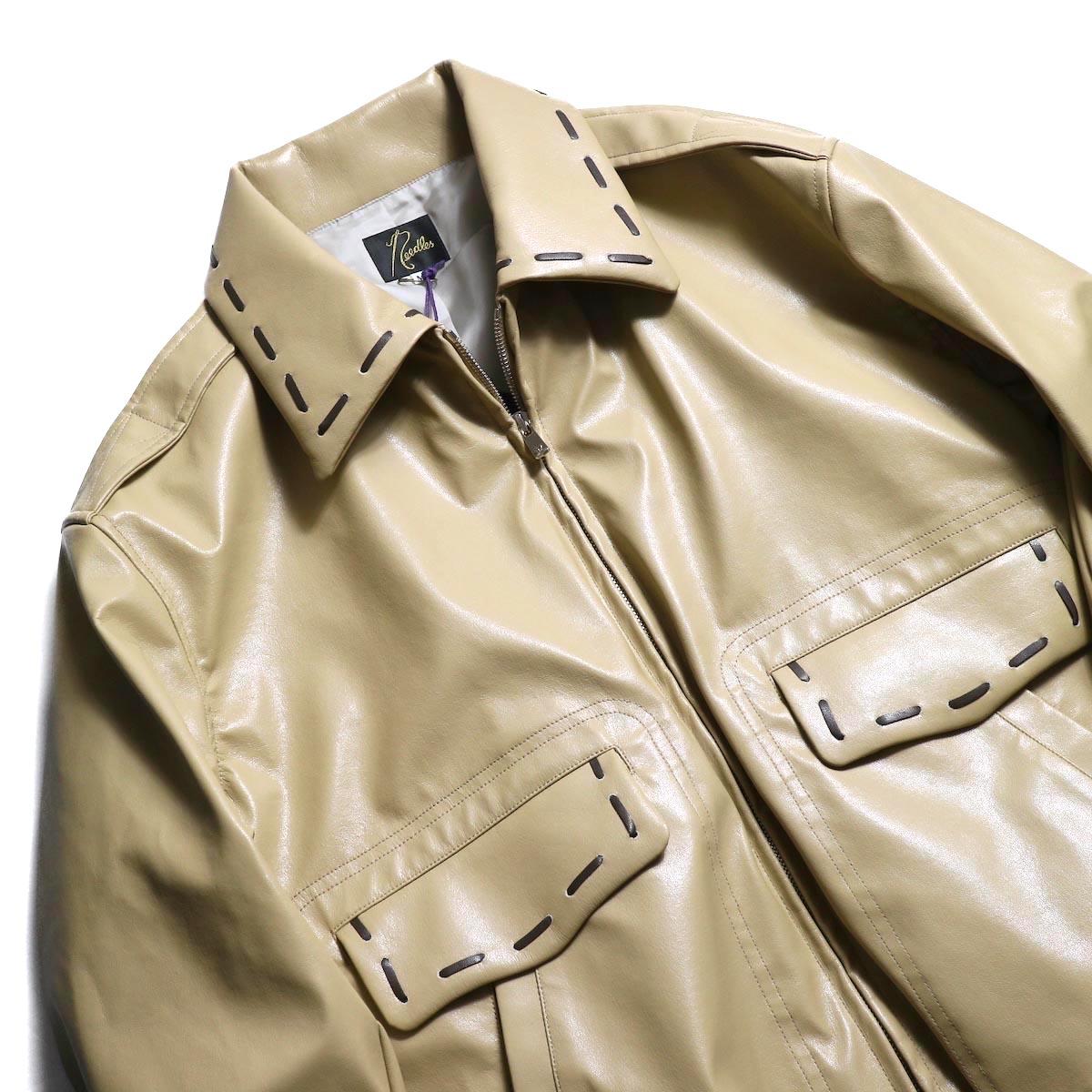 NEEDLES / G-1 Jacket -Synthetic Leather 襟