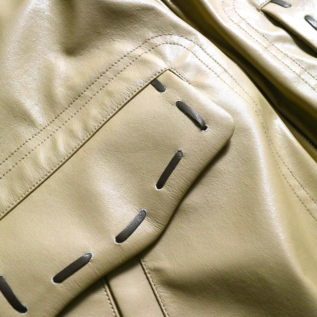 NEEDLES / G-1 Jacket -Synthetic Leather ポケット