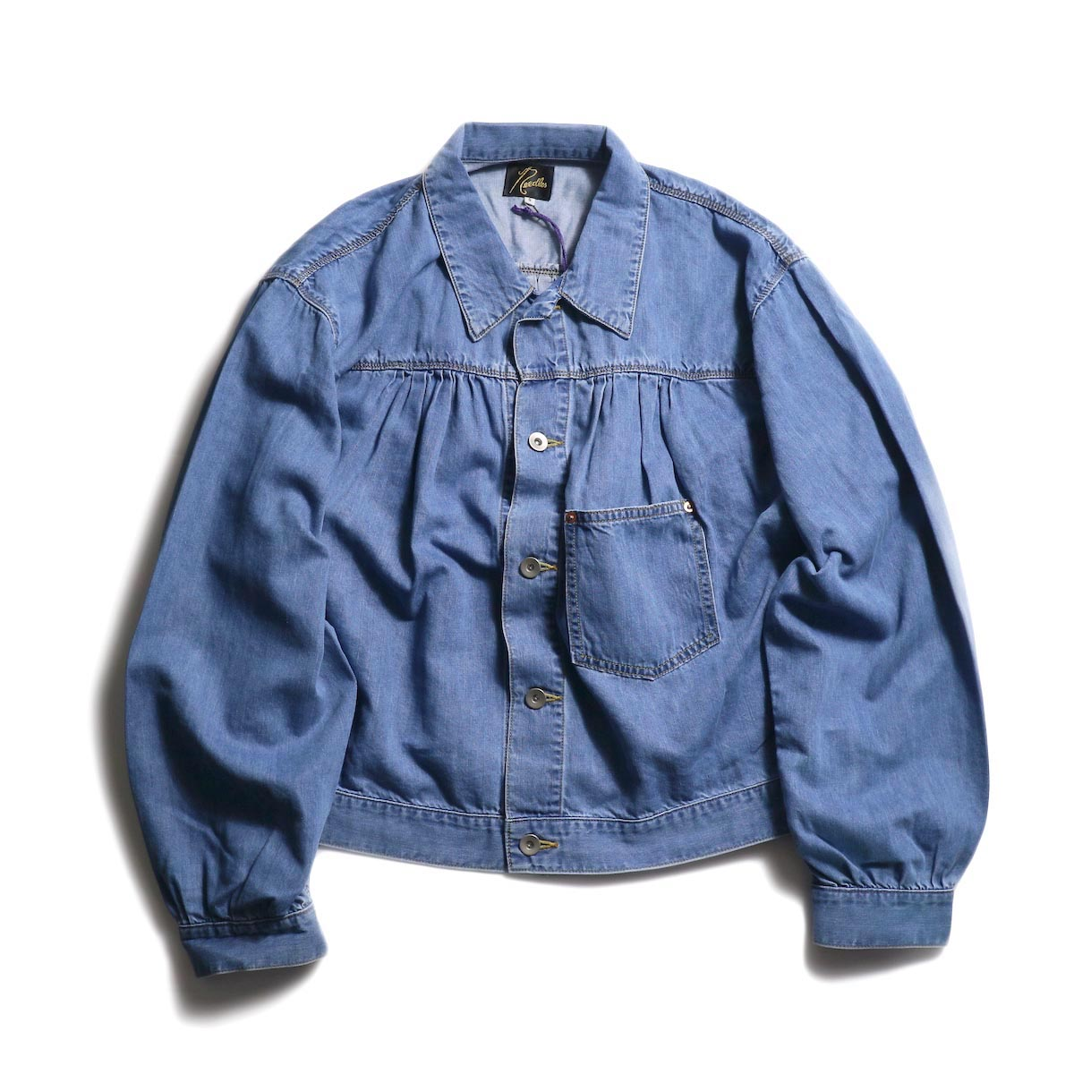 NEEDLES / Gathered Jean Jacket -7oz c/t denim