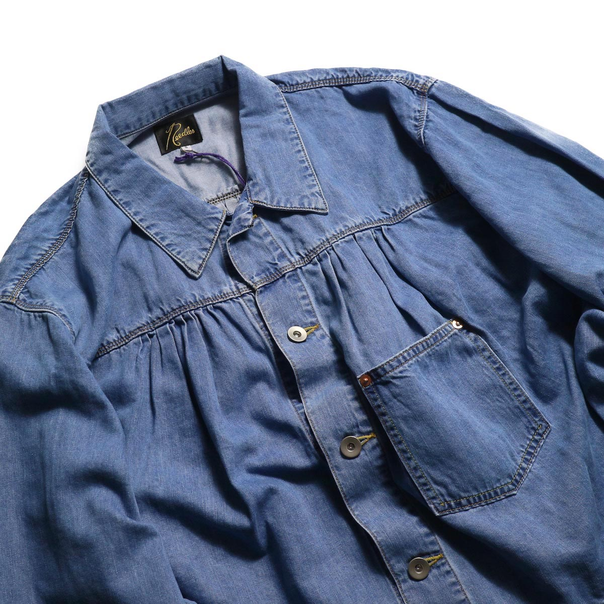 NEEDLES / Gathered Jean Jacket -7oz c/t denim 襟