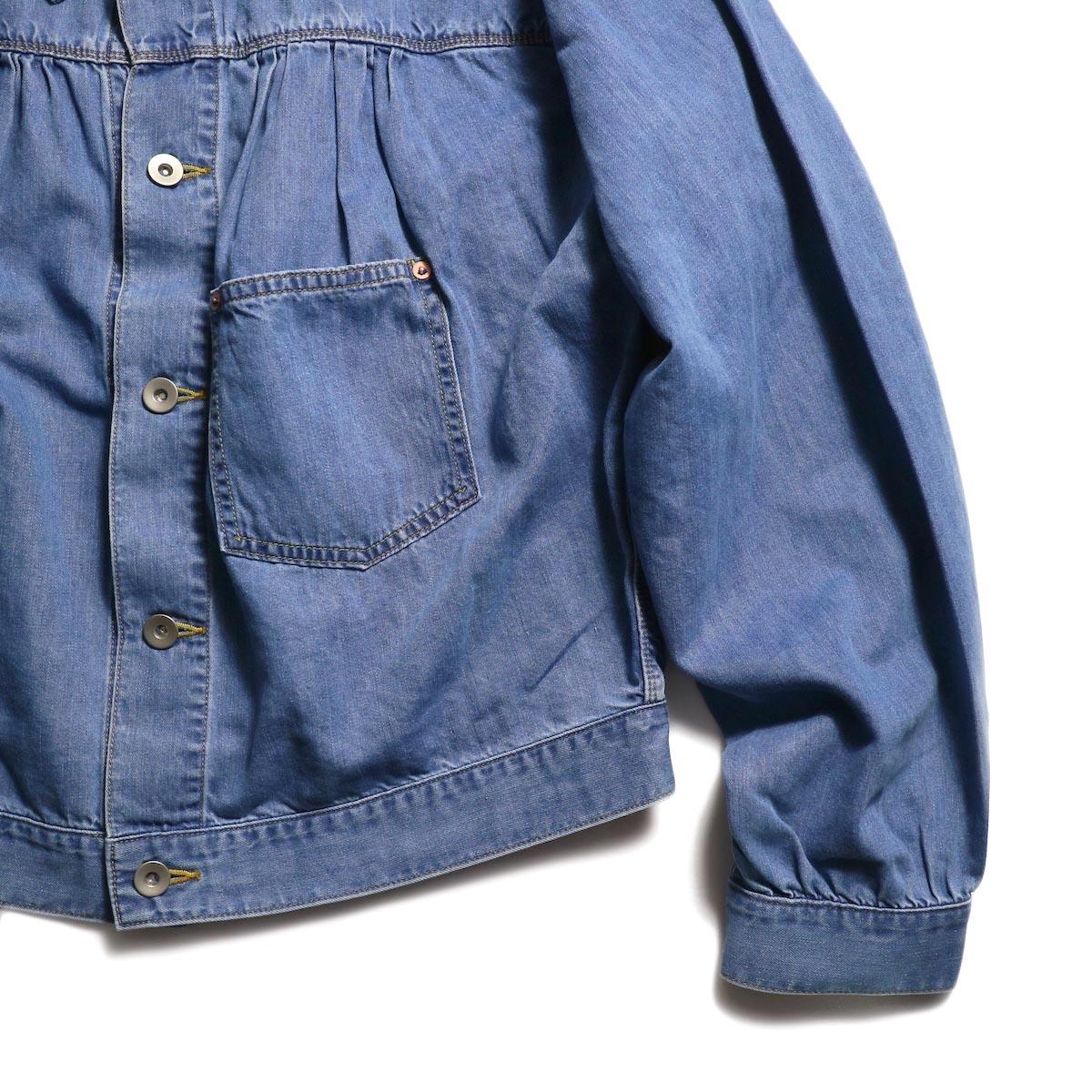 NEEDLES / Gathered Jean Jacket -7oz c/t denim ポケット