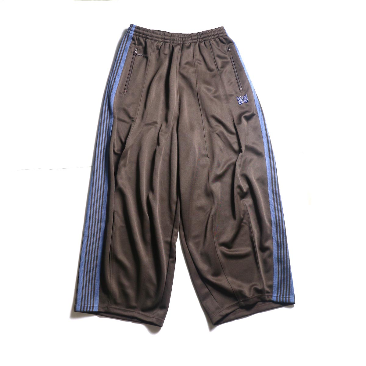 Needles / H.D. TRACK PANT - POLY SMOOTH (Brown)正面