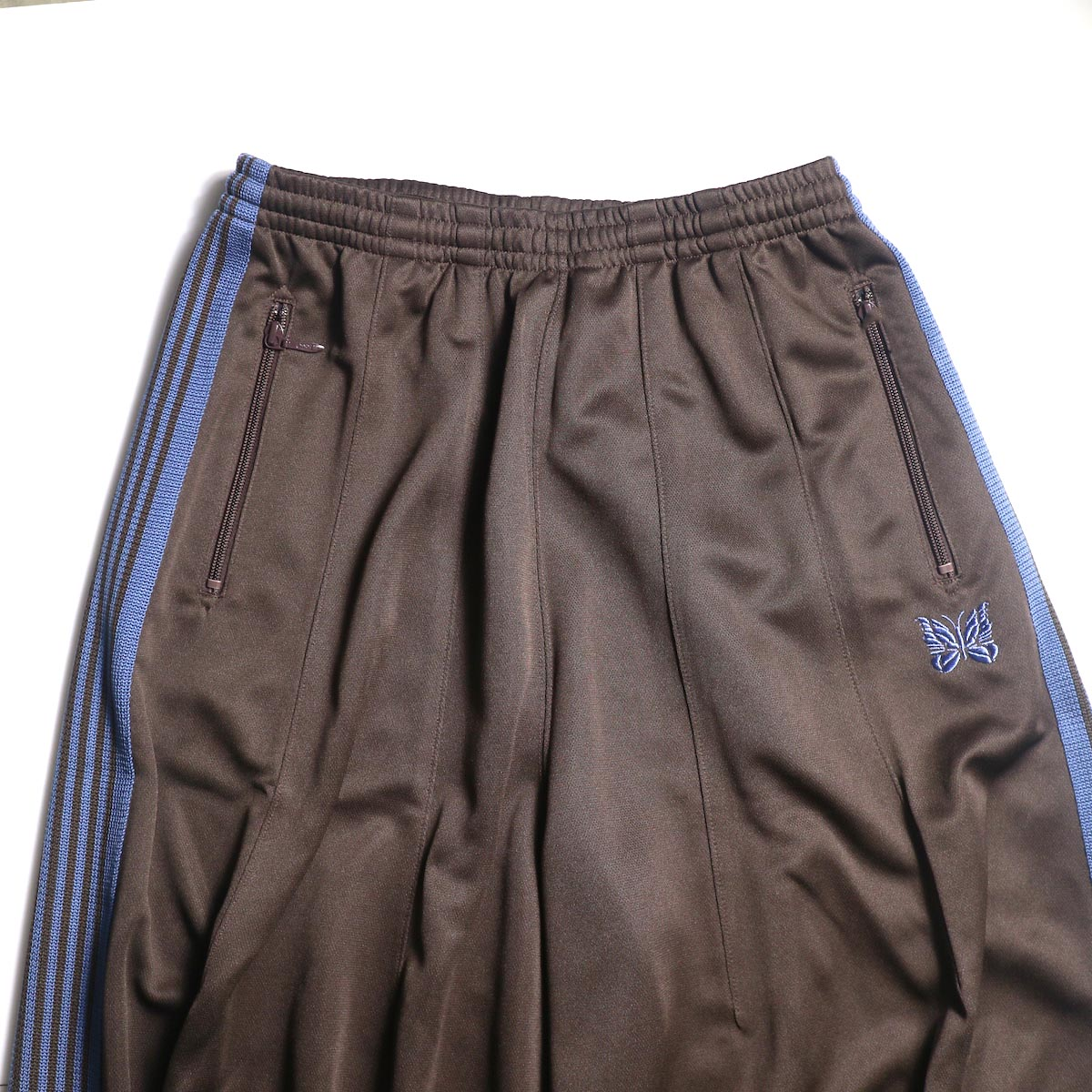 Needles / H.D. TRACK PANT - POLY SMOOTH (Brown)ウエスト