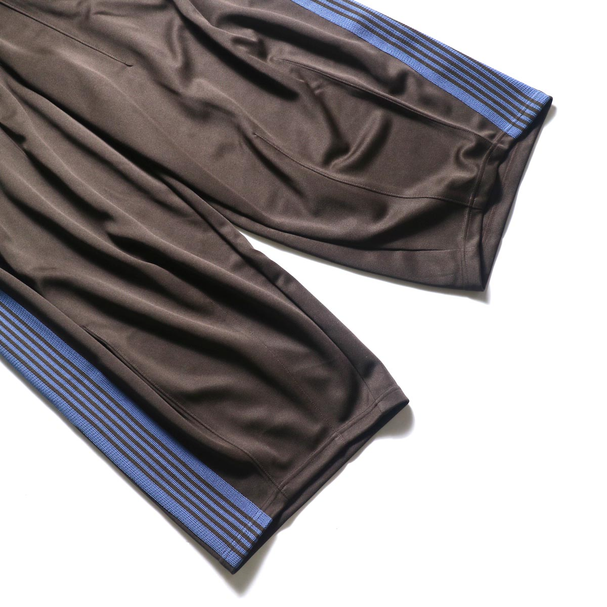 Needles / H.D. TRACK PANT - POLY SMOOTH (Brown)裾