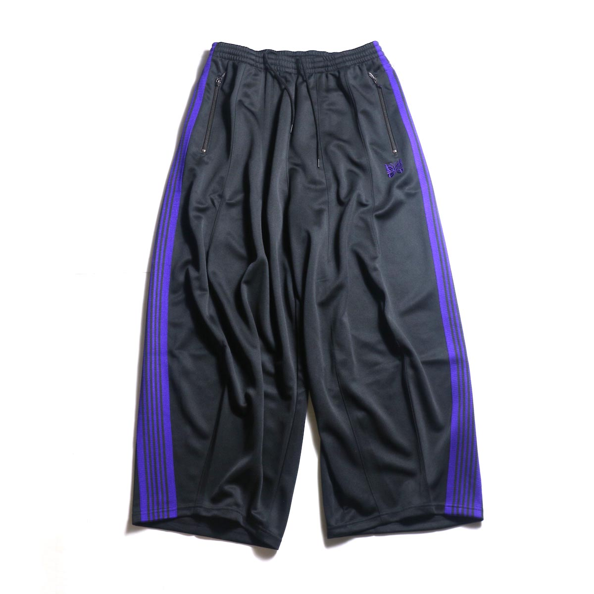 Needles / H.D. TRACK PANT - POLY SMOOTH (Charcoal)