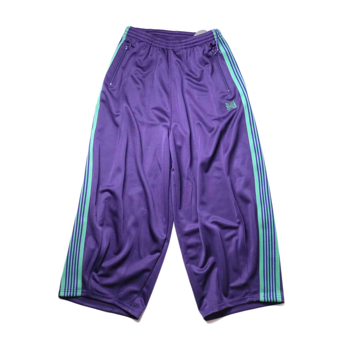 Needles / H.D. TRACK PANT - POLY SMOOTH (Eggplant)正面