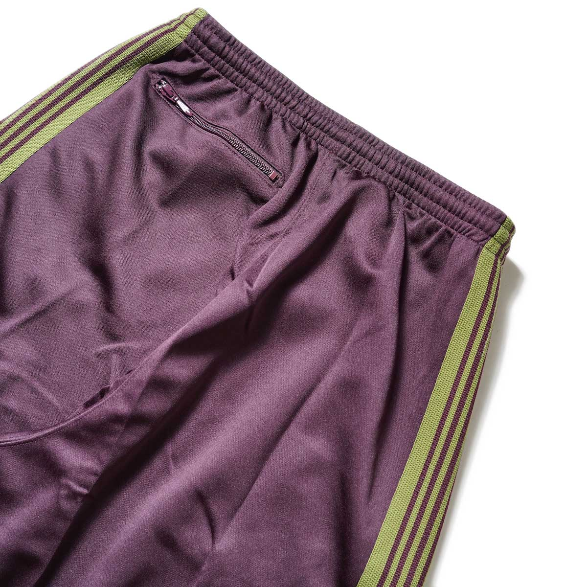 Needles / H.D. Track Pant -PolySmooth (Maroon)ヒップポケット