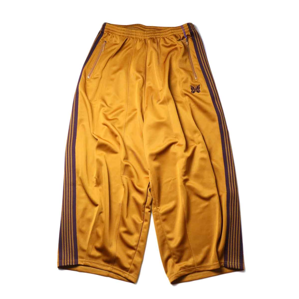 Needles / H.D. TRACK PANT - POLY SMOOTH (Mustard)正面