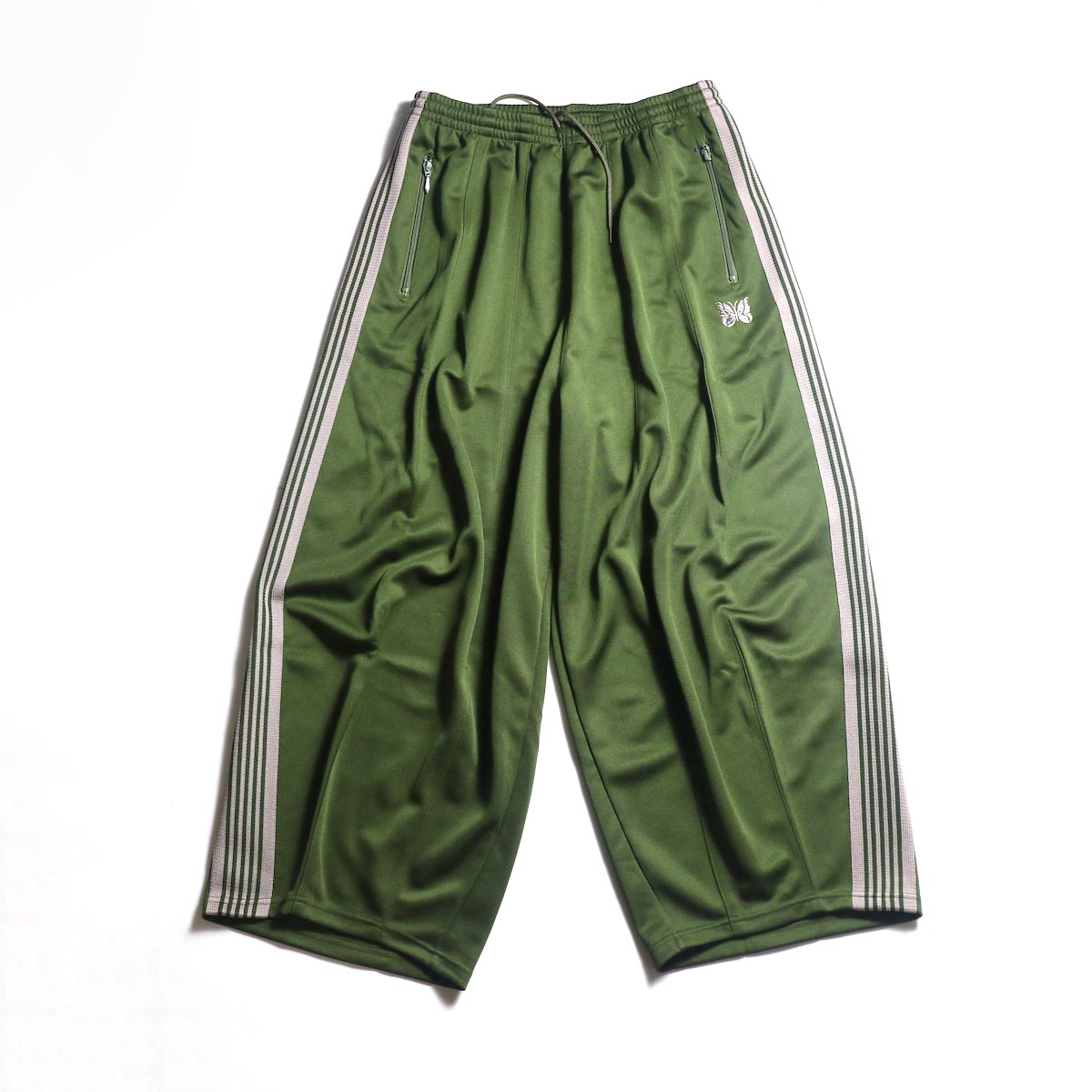 Needles / H.D. TRACK PANT - POLY SMOOTH (Olive)正面