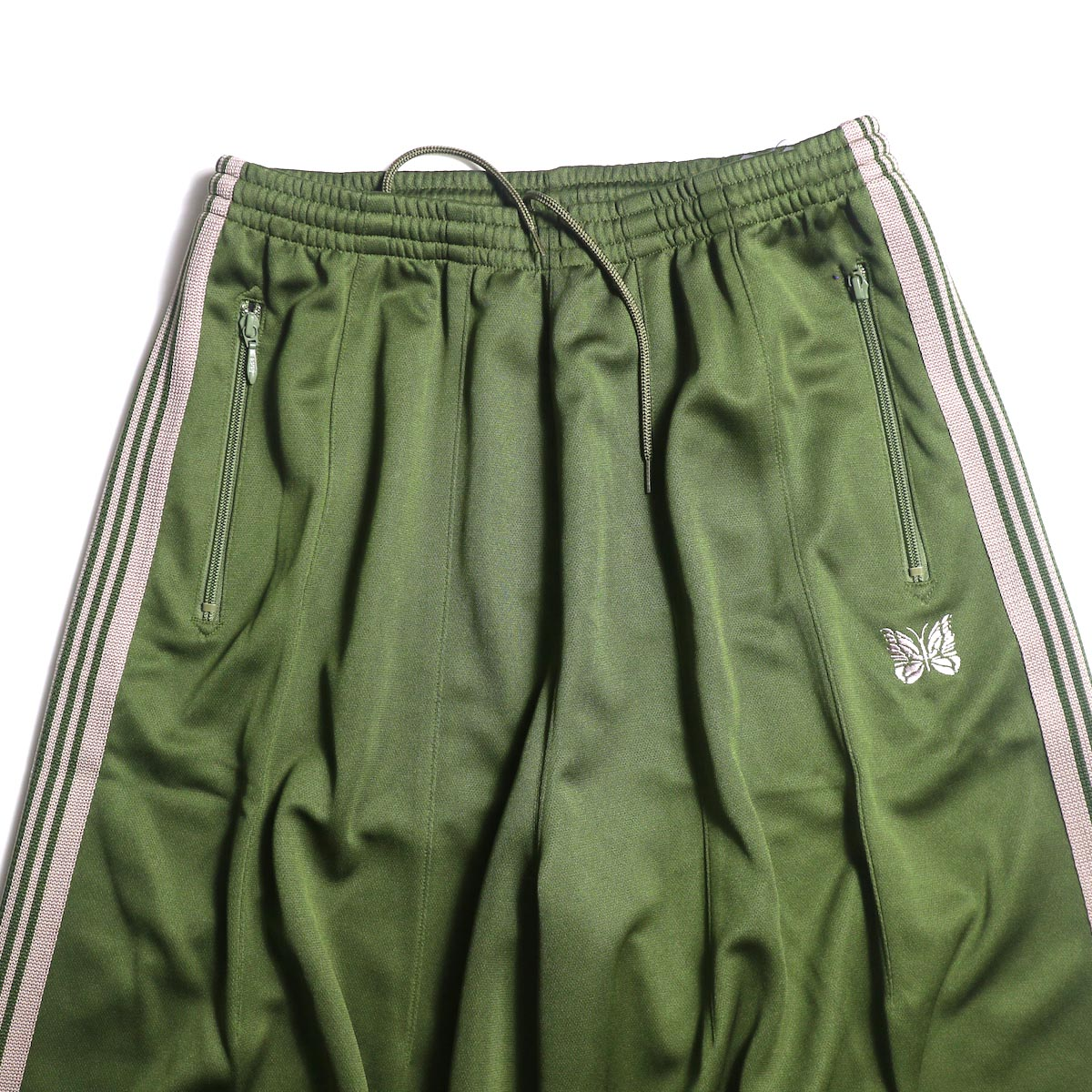 Needles / H.D. TRACK PANT - POLY SMOOTH (Olive)ウエスト
