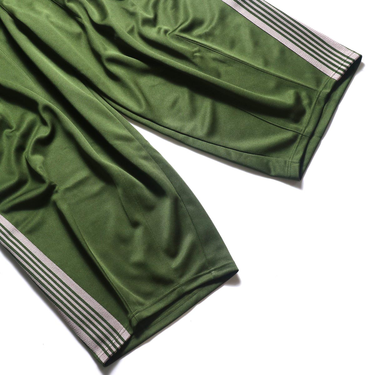 Needles / H.D. TRACK PANT - POLY SMOOTH (Olive)裾