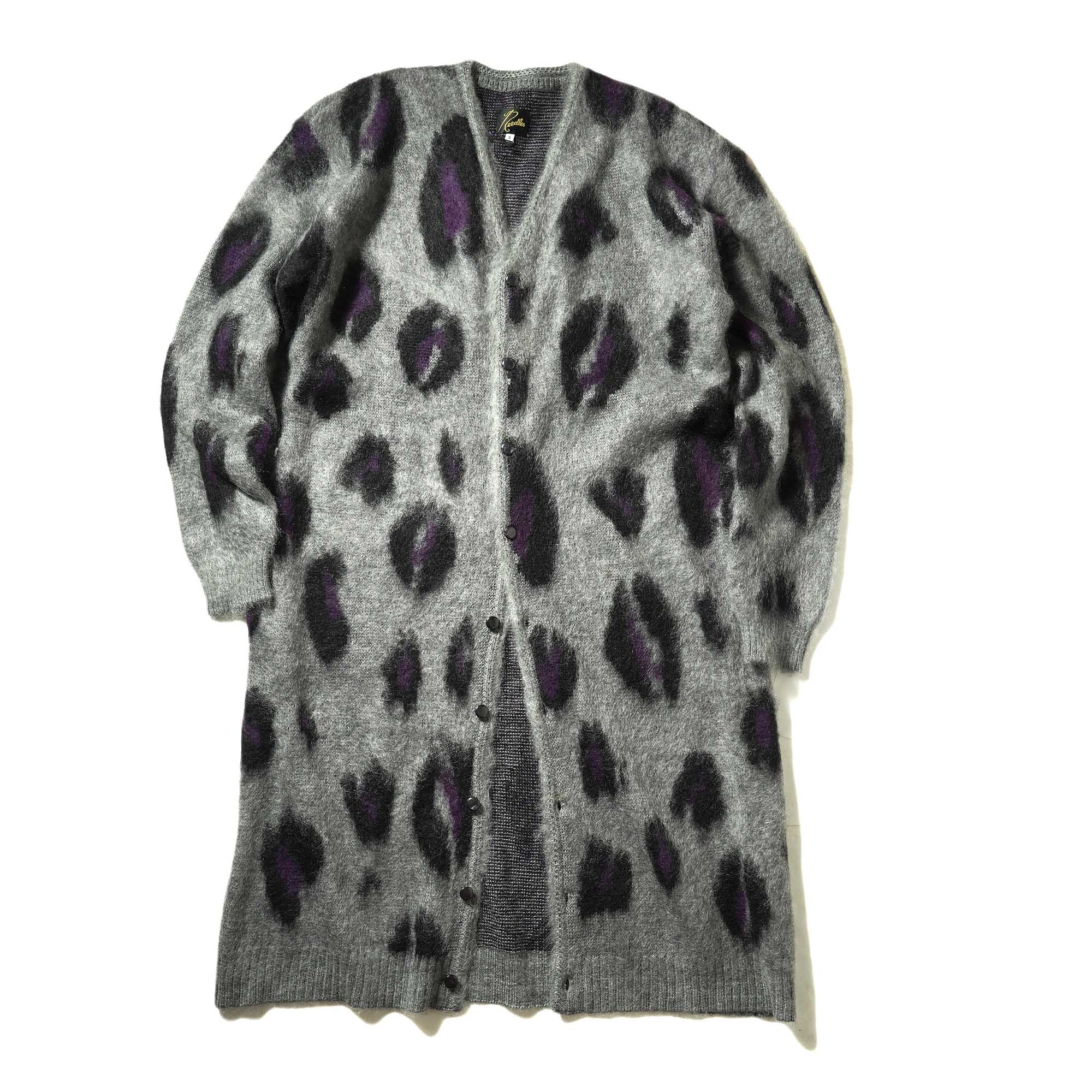 Needles / MOHAIR CARDIGAN -WindowpaneNeedles / MOHAIR LONG CARDIGAN - Leopard