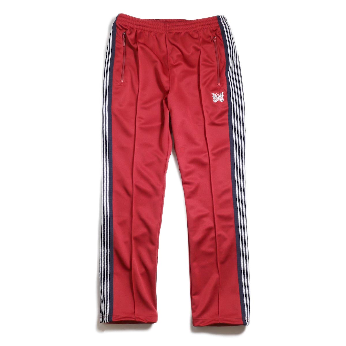 Needles / Narrow Track Pant -Poly Smooth (Red)
