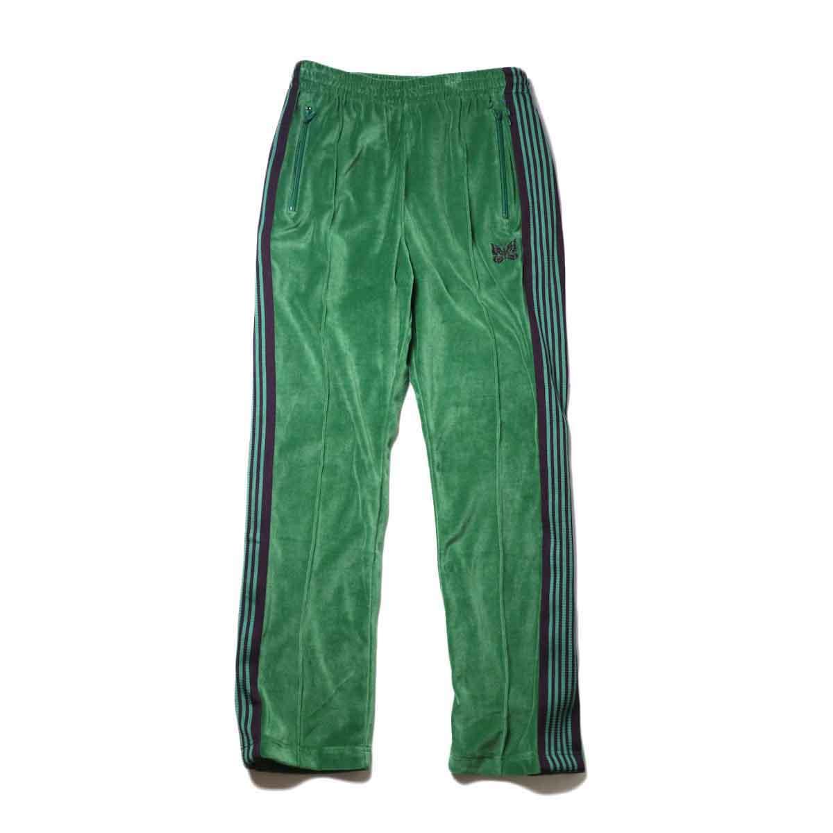Needles / Narrow Track Pant -C/Pe Velour (Green)