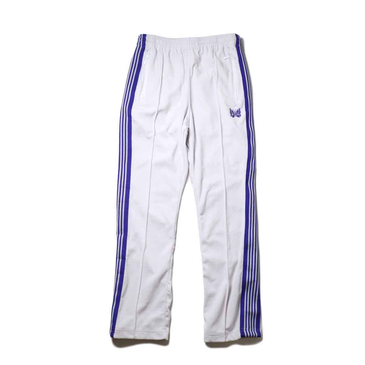 Needles / Narrow Track Pant -C/Pe Velour (White)