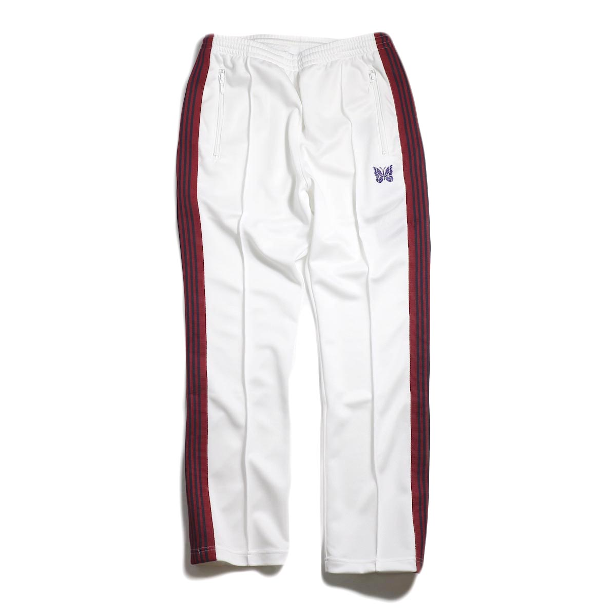Needles / Narrow Track Pant -Poly Smooth (White)
