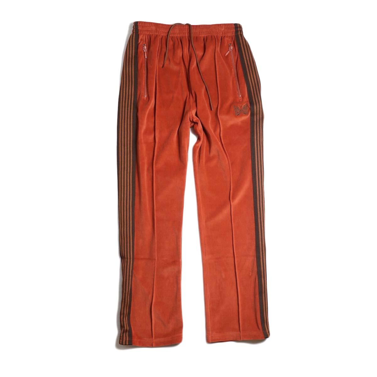 Needles / Narrow Track Pant - C/Pe Velour (Brick)