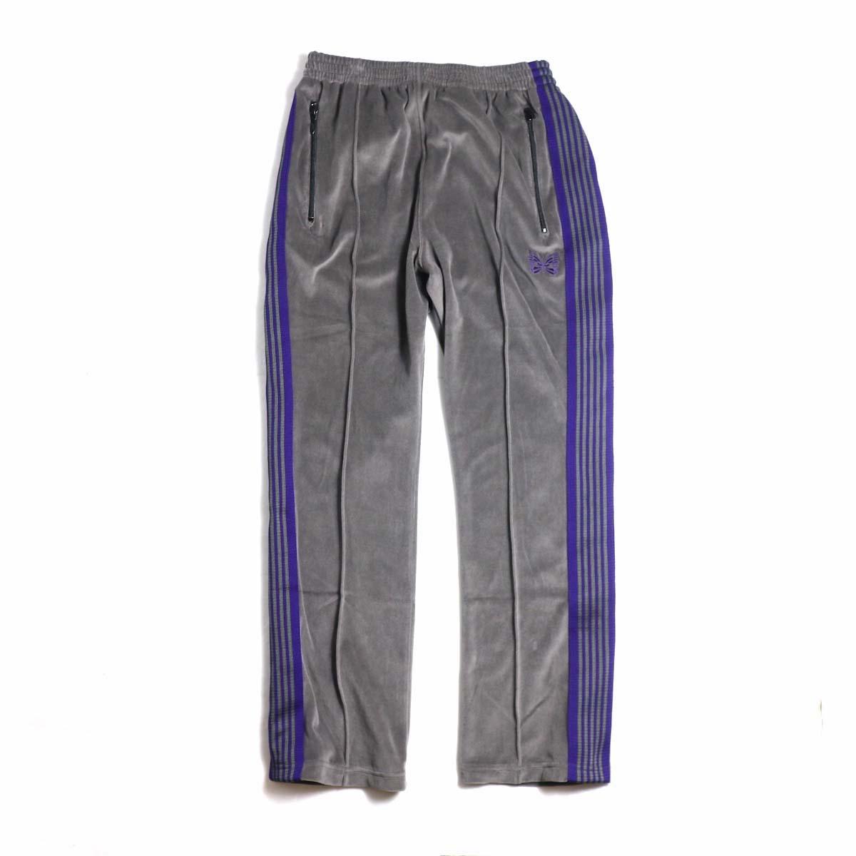 Needles / Narrow Track Pant - C/Pe Velour (Gray)