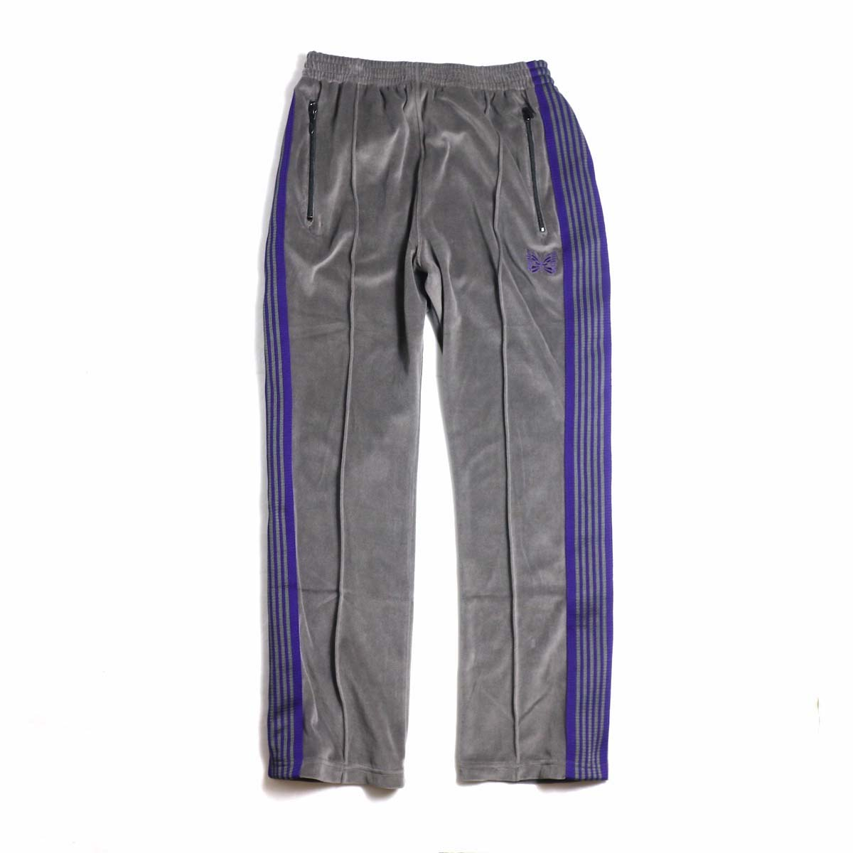 Needles / Narrow Track Pant - C/Pe Velour (Gray)