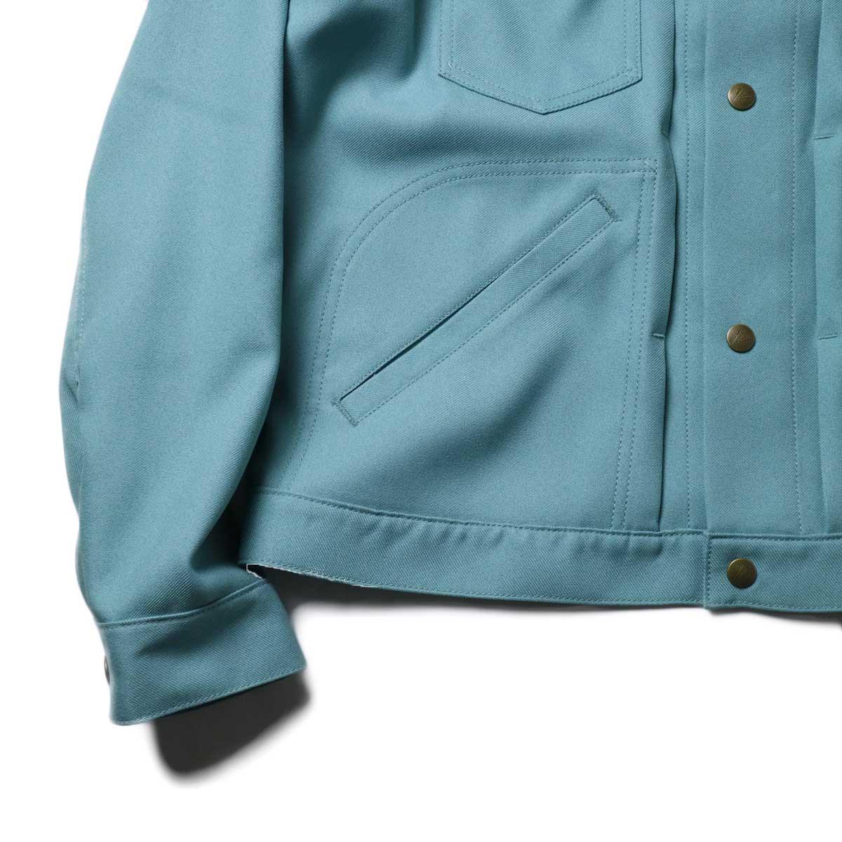 Needles / Penny Jean Jacket -Poly Twill (Sax)袖、裾