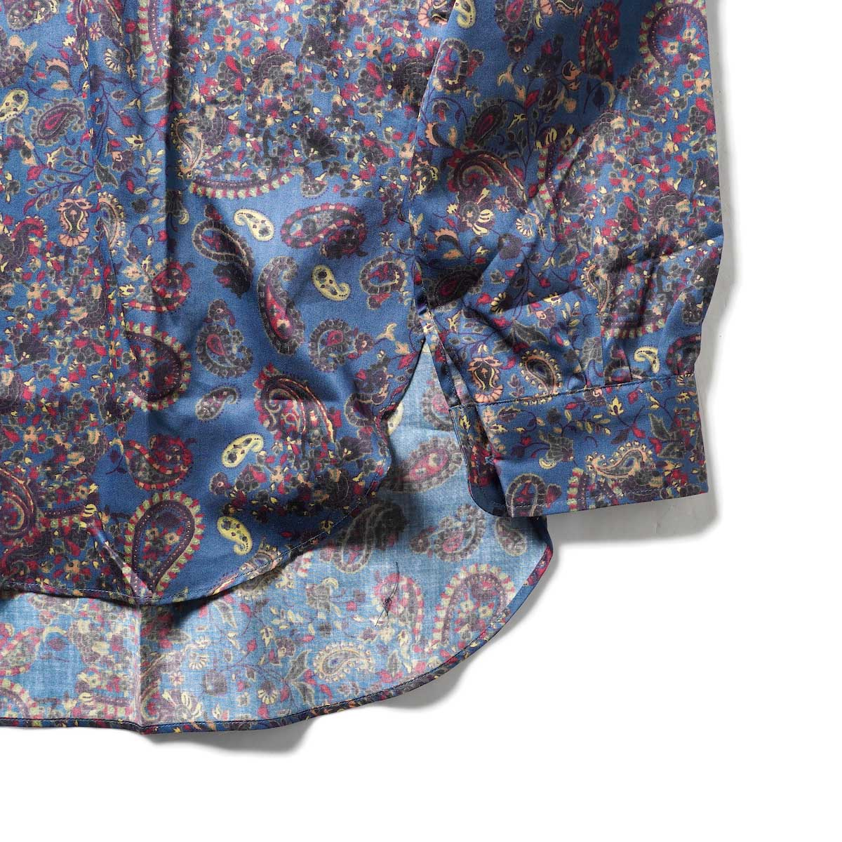 Needles / PINHOLE EDW SHIRT - COTTON SATEEN / PAISLEY PT. (Blue)袖、裾
