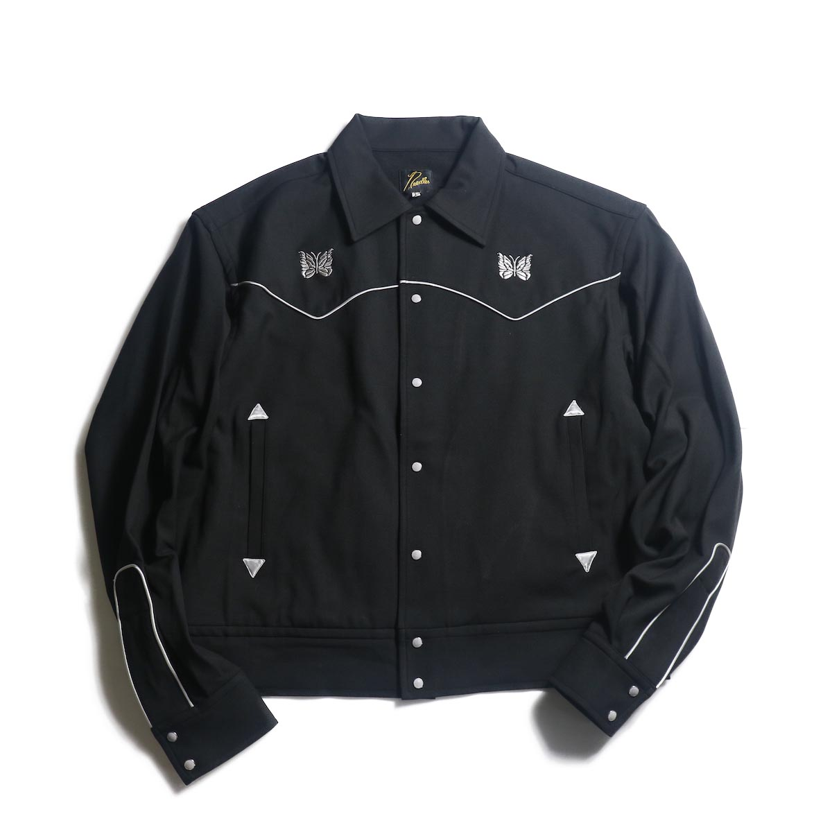 Needles / PIPING COWBOY JAC - PE/R/PU TWILL (Black)