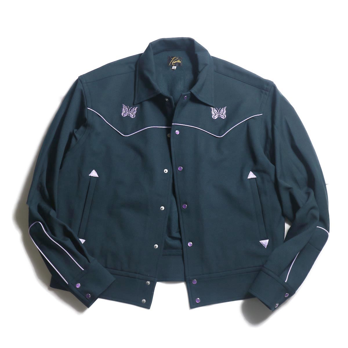 Needles / PIPING COWBOY JAC - PE/R/PU TWILL (Green)