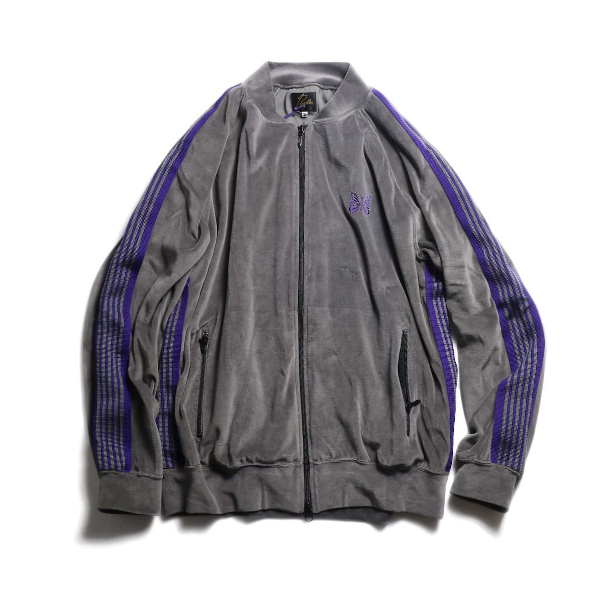 Needles / Rib Collar Track Jacket -c/pe Velour (Gray)