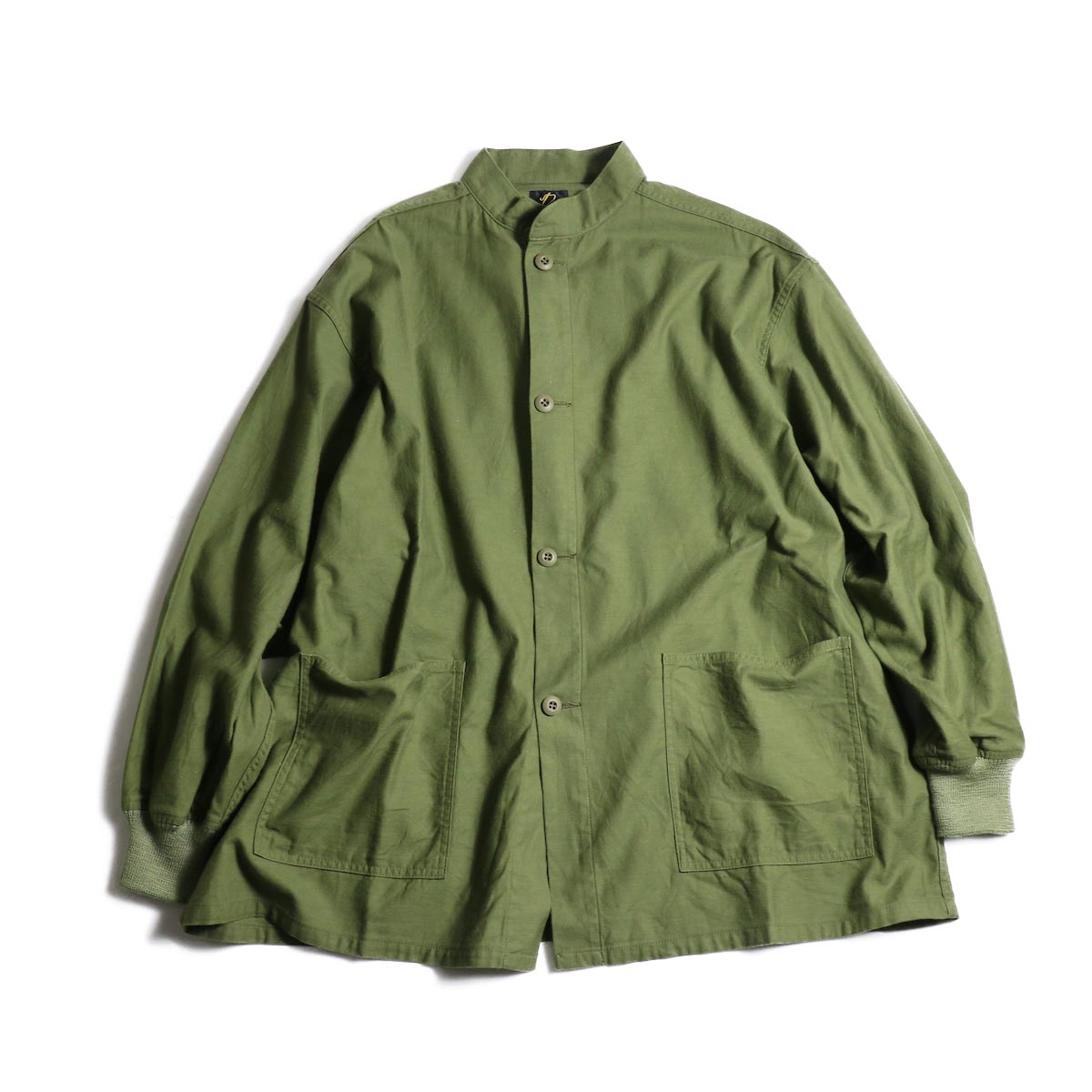 Needles / S.C. ARMY SHIRT - BACK SATEEN (Olive)正面