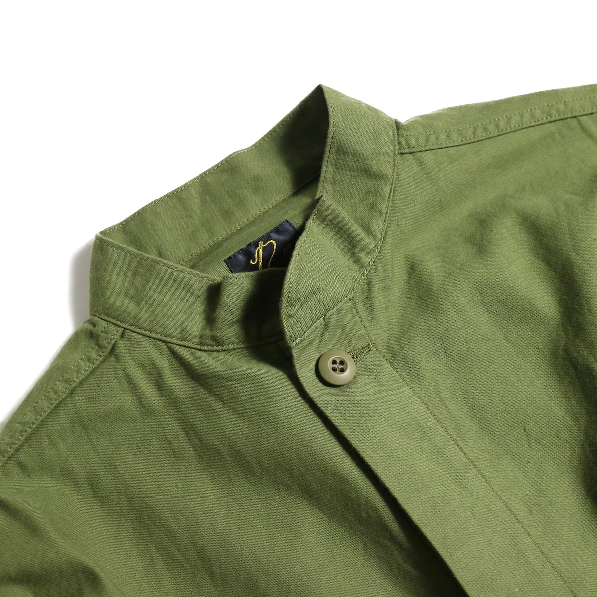 Needles / S.C. ARMY SHIRT - BACK SATEEN (Olive)スタンドカラー
