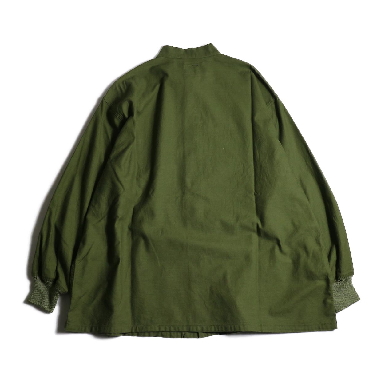 Needles / S.C. ARMY SHIRT - BACK SATEEN (Olive)背面