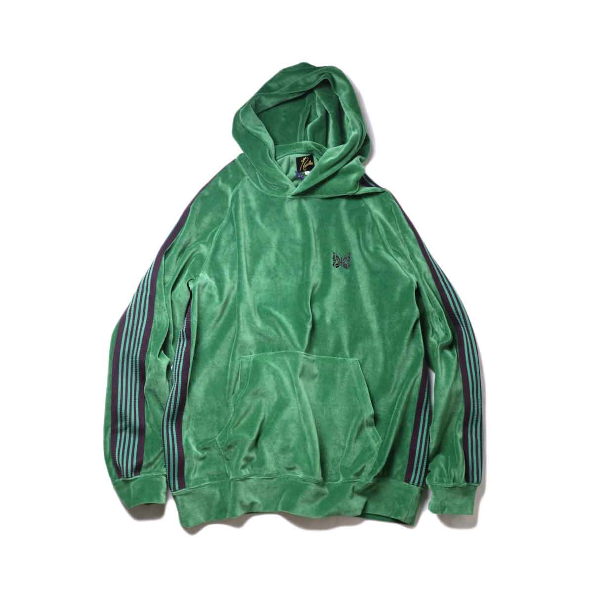 Needles / Track Hoody -C/Pe Velour (Green)