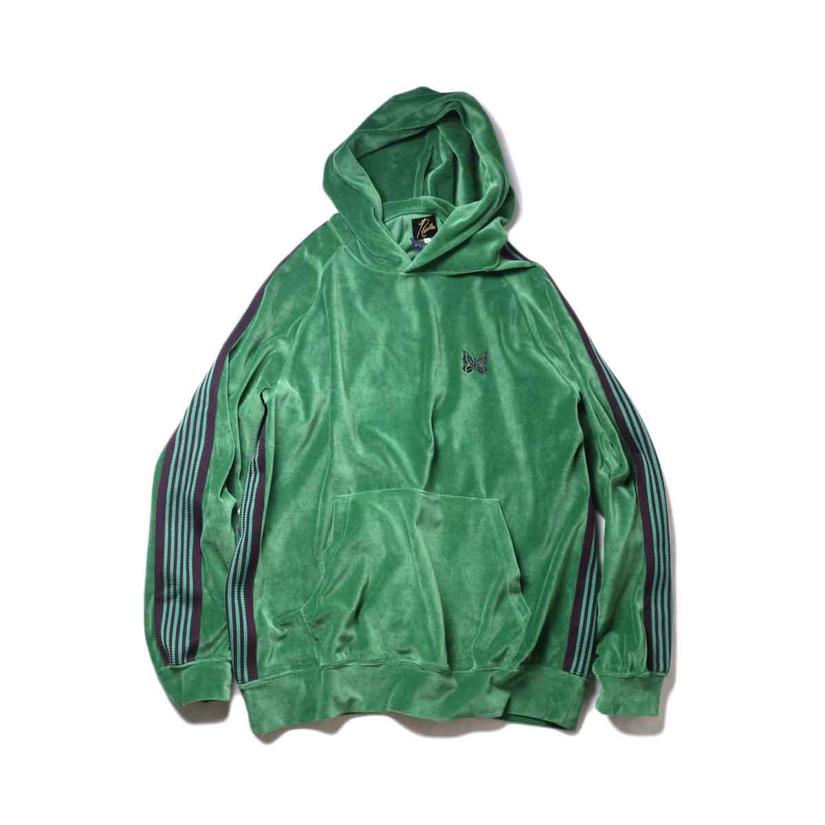 Needles / Track Hoody -C/Pe Velour (Green)