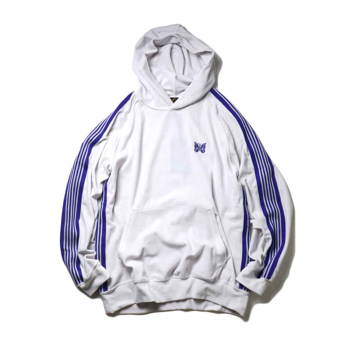 Needles / Track Hoody -C/Pe Velour (White)