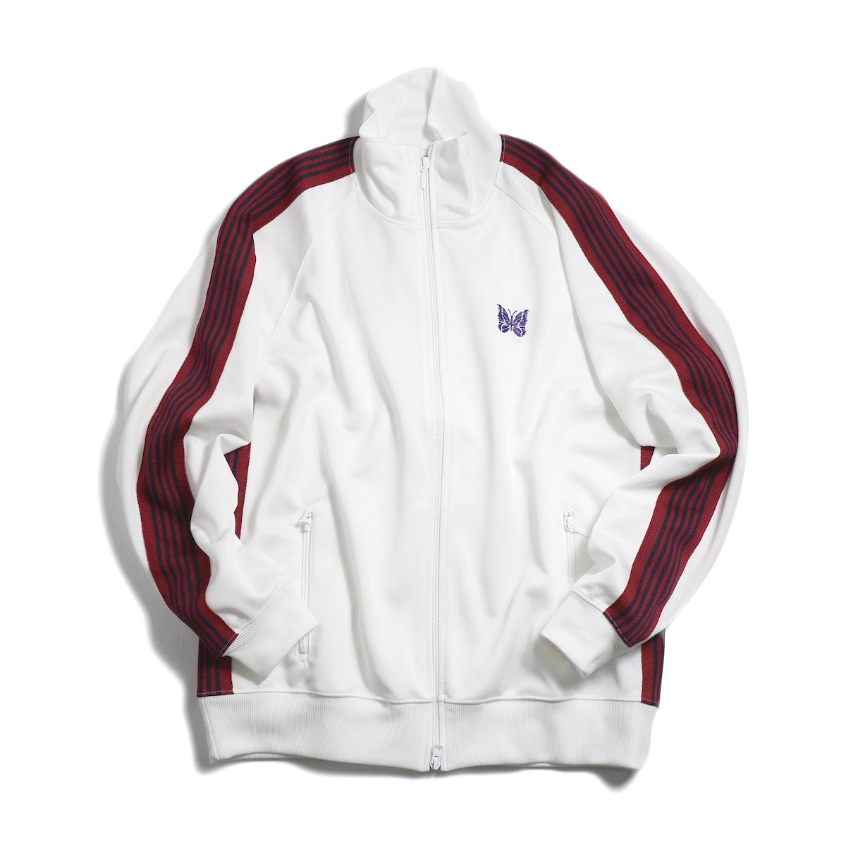 Needles / Track Jacket - Poly Smooth (White)