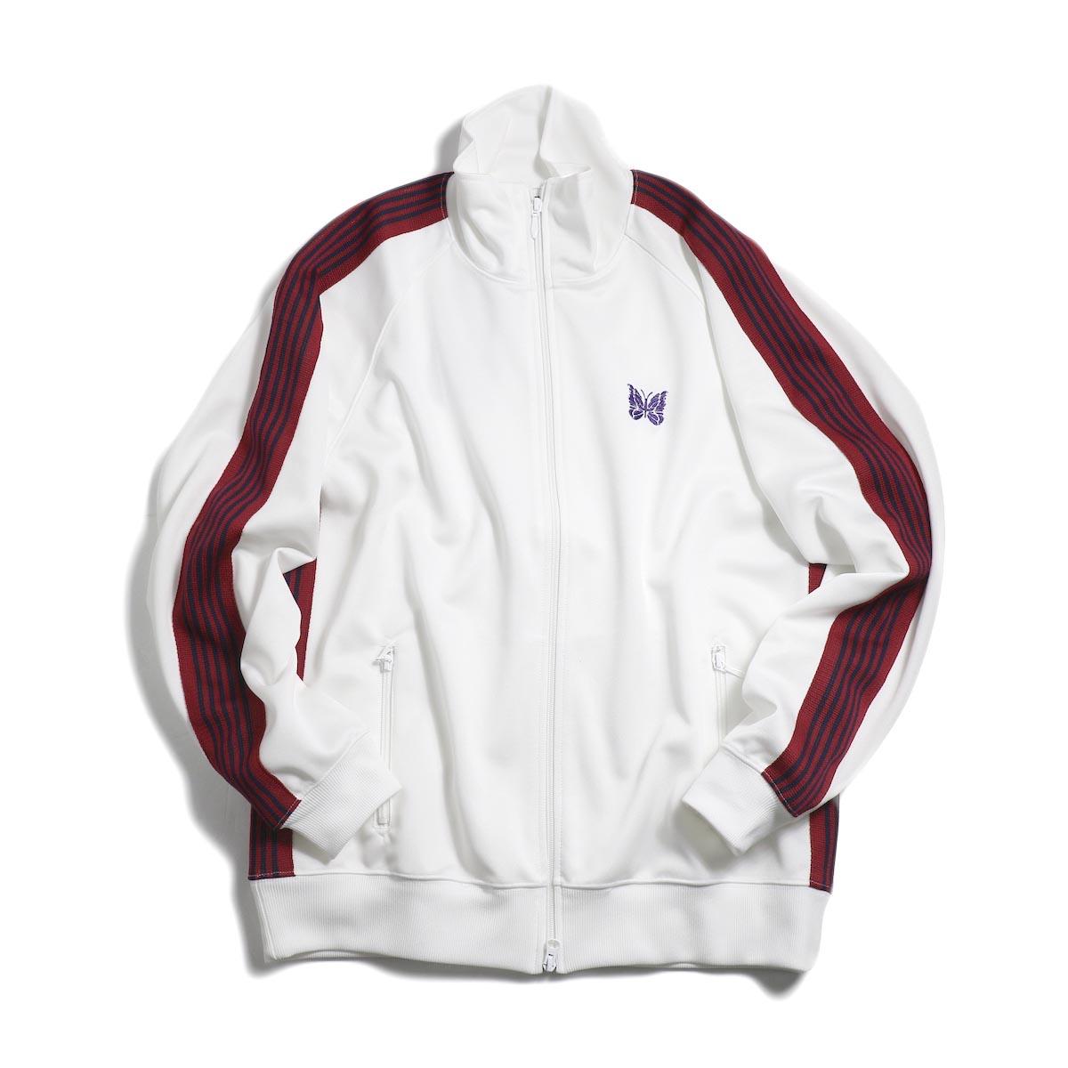 Needles / Track Jacket - Poly Smooth (White)