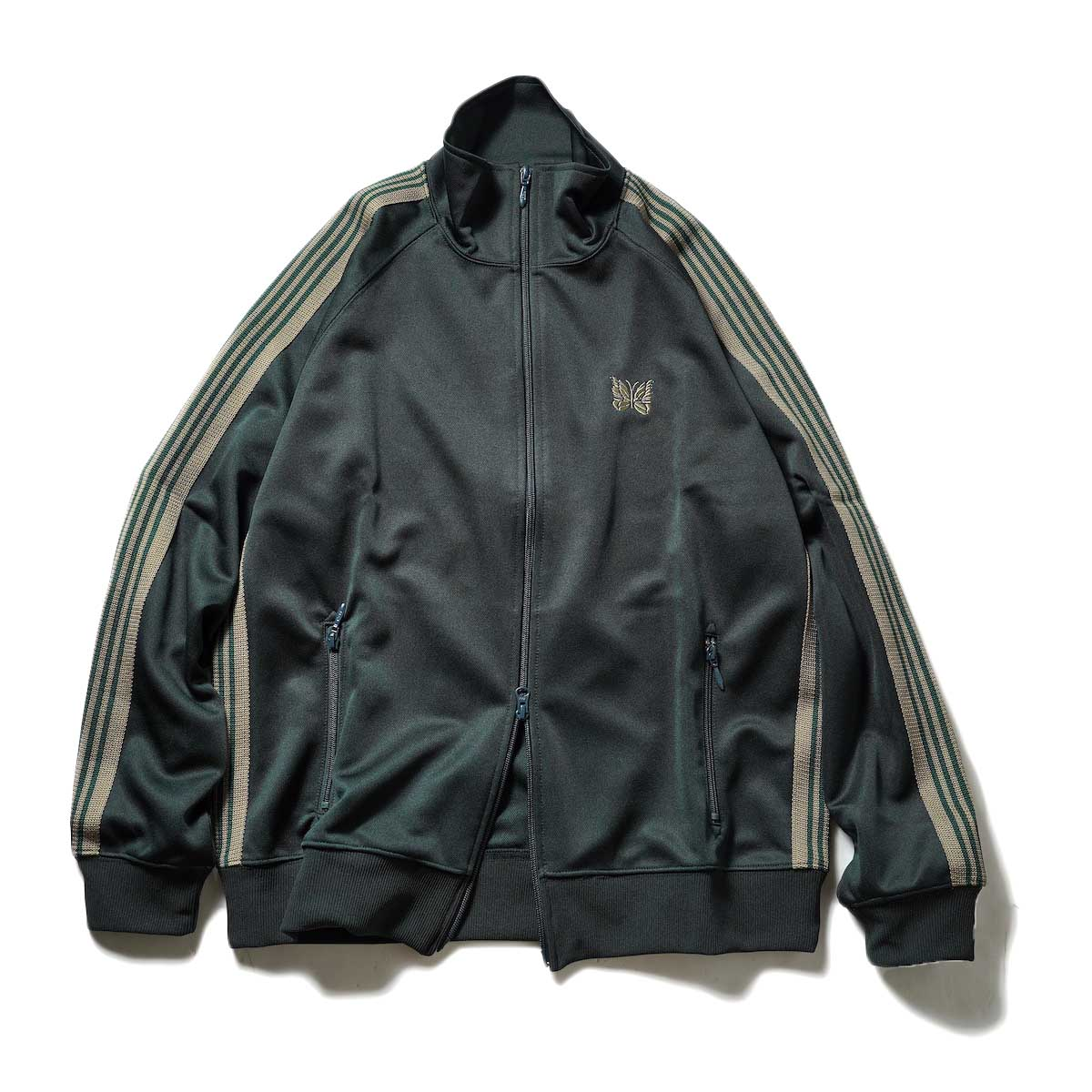 Needles / Track Jacket -Poly Smooth (Dk.Green)正面