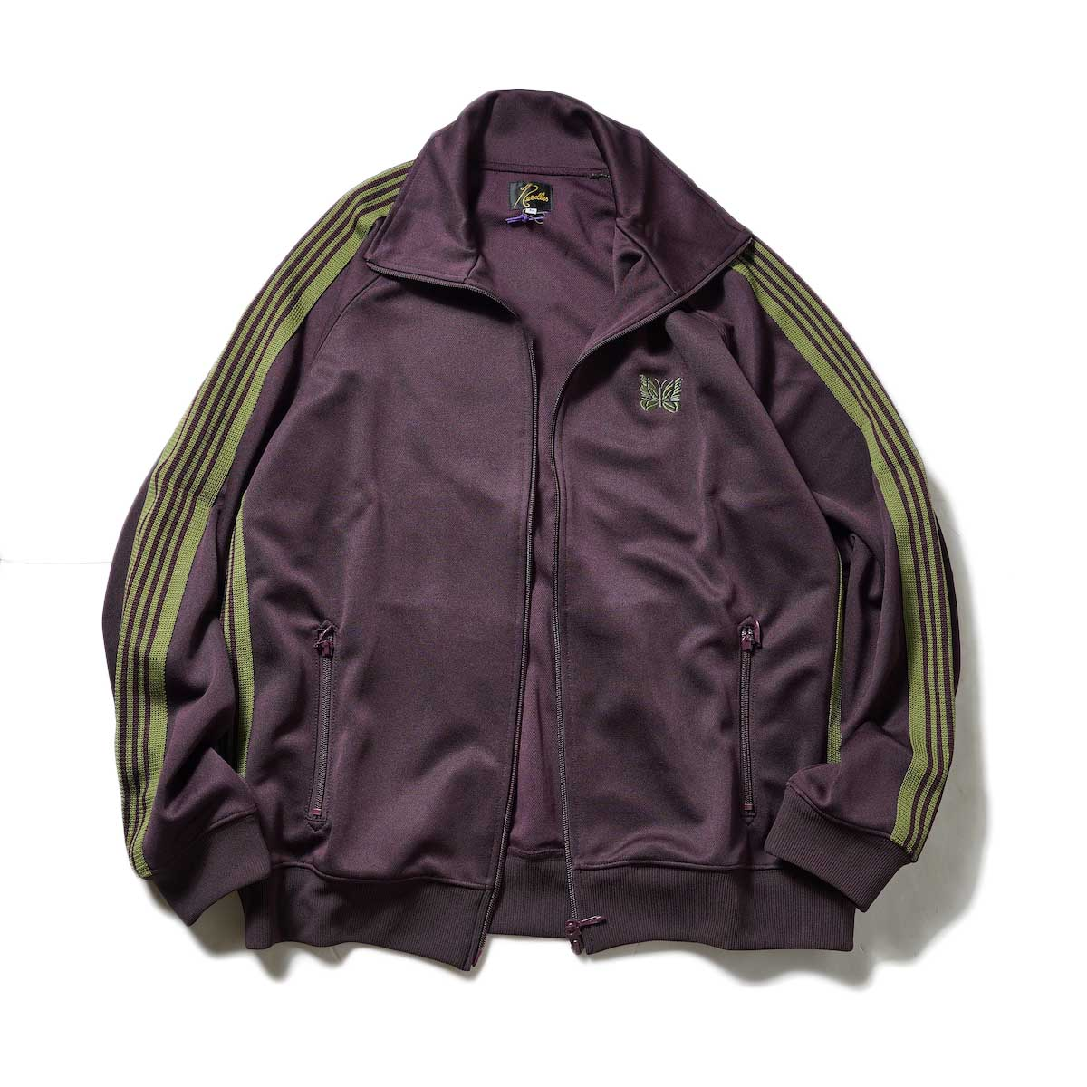 Needles / Track Jacket -Poly Smooth (Maroon)正面