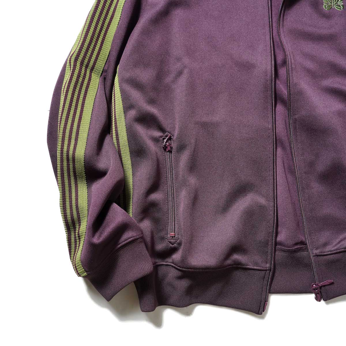 Needles / Track Jacket -Poly Smooth (Maroon)袖、裾