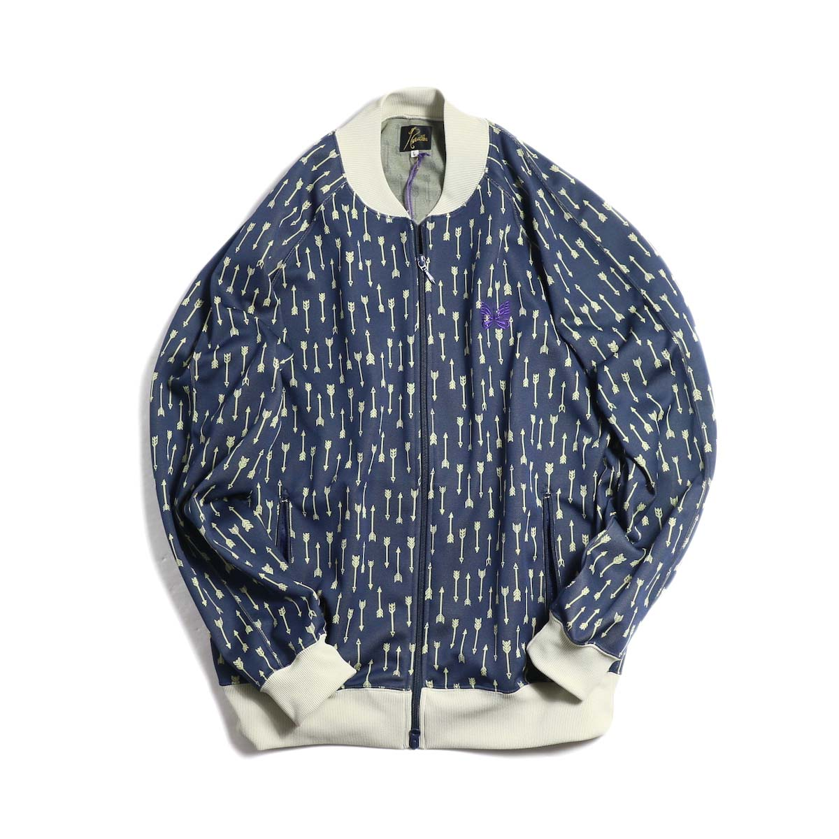 Needles / Rib Collar Track Jacket -Poly Jacquard (Allow)