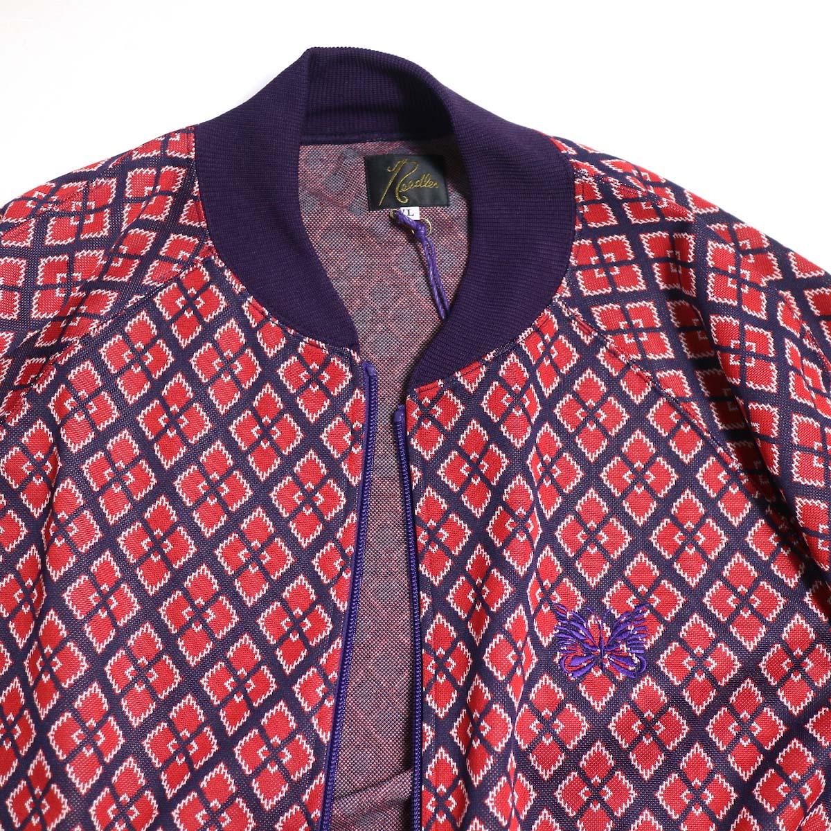 Needles / Rib Collar Track Jacket -Poly Jacquard (Diamond)リブカラー